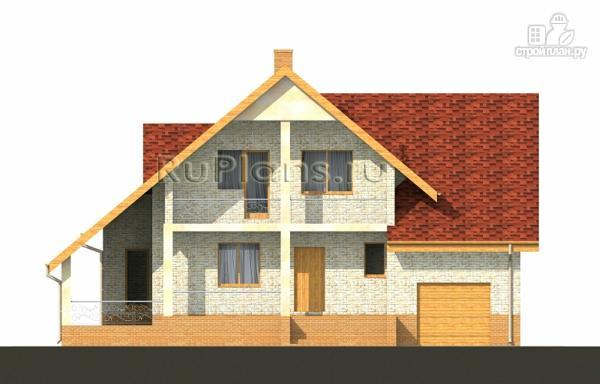 Фото 5: проект дом с мансардой, гаражом и большой террасой