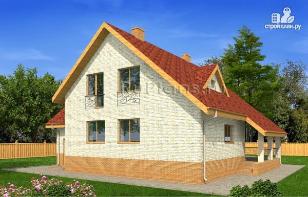 Фото 4: проект дом с мансардой, гаражом и большой террасой