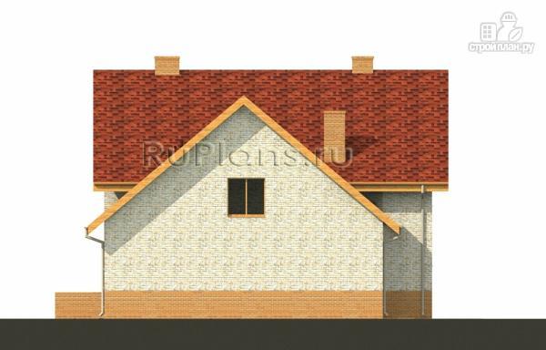 Фото 6: проект дом с мансардой, гаражом и большой террасой
