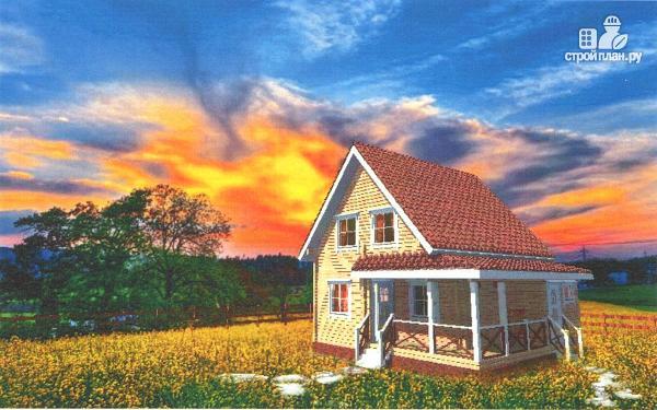 Фото: проект уютный дачный дом из клееного бруса с просторной зоной кухни-гостинной