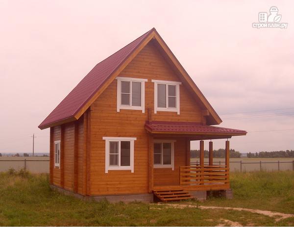 Фото 6: проект уютный дачный дом из клееного бруса с просторной зоной кухни-гостинной