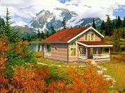 Проект уютный и современный загородный дом из клееного бруса