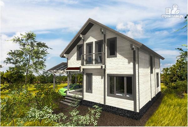 Фото: проект просторный загородный коттедж из клееного бруса