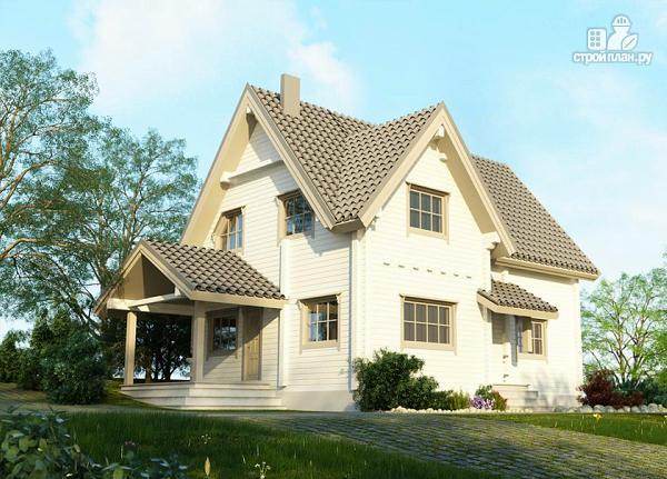 Фото 5: проект изящный загородный коттедж в современном стиле, построенный из клееного бруса