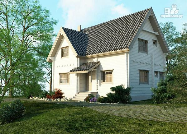 Фото 6: проект изящный загородный коттедж в современном стиле, построенный из клееного бруса