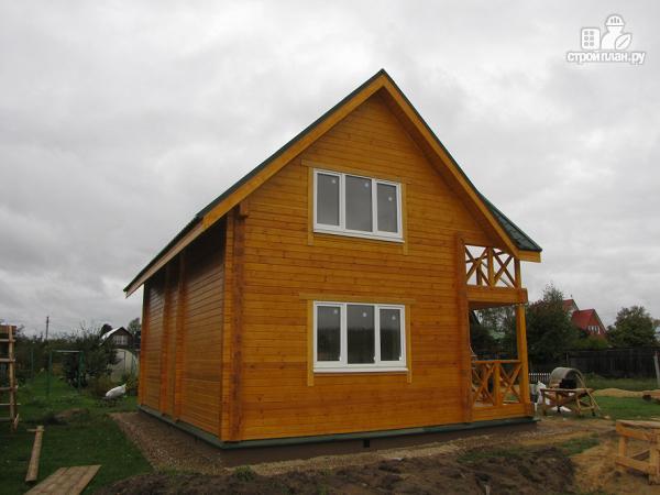 Фото 6: проект дачный дом с мансардой и балконом из клееного бруса
