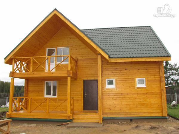 Фото 4: проект дачный дом с мансардой и балконом из клееного бруса
