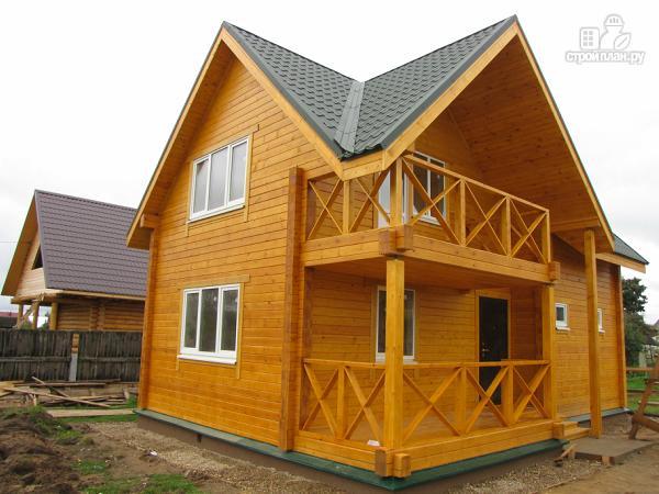 Фото 5: проект дачный дом с мансардой и балконом из клееного бруса