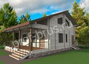 Проект дом из бруса с просторной гардеробной