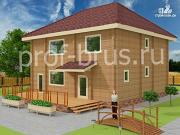 Проект брусовый дом с 5-ю спальнями