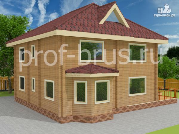 Фото 2: проект брусовый дом с 5-ю спальнями