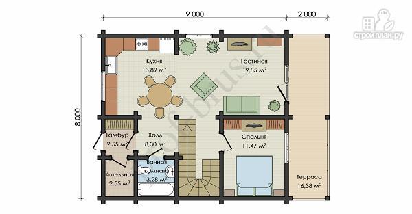 Фото 4: проект дом с просторными балконом и террасой