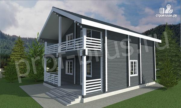 Фото 2: проект дом с просторными балконом и террасой