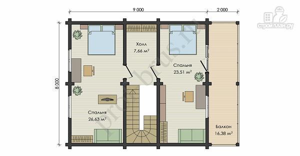 Фото 5: проект дом с просторными балконом и террасой