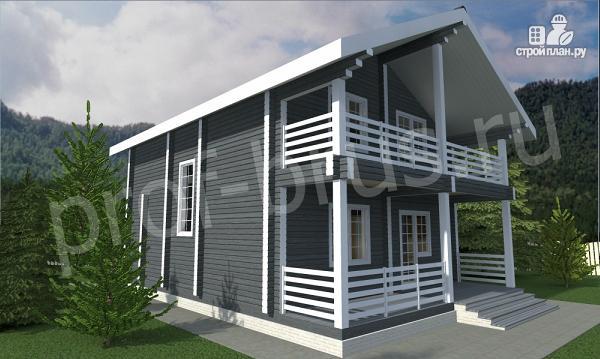Фото 3: проект дом с просторными балконом и террасой