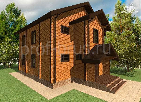 Фото 2: проект дом из бруса с большой гардеробной