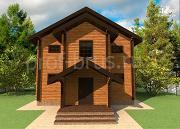 Фото: дом из бруса с большой гардеробной