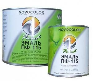 Эмаль ПФ-115 Новоколор различные фасовки и цвета