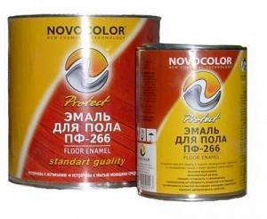 Эмаль ПФ-266  Новоколор различные фасовки и цвета
