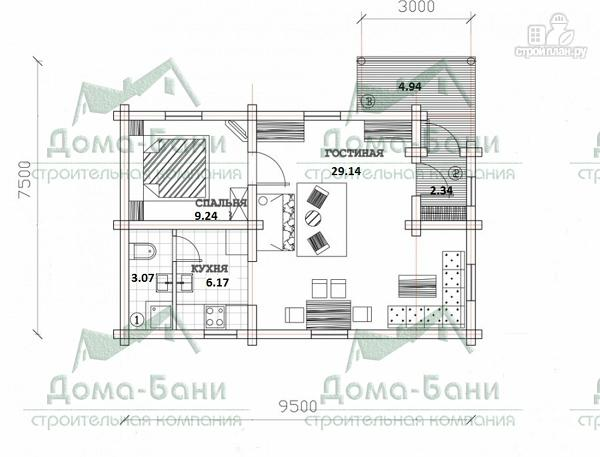 Фото 2: проект дом из бревна