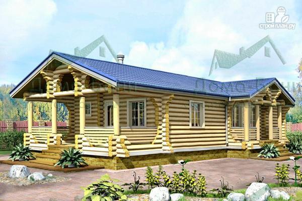 Фото: проект дом-баня из бревна