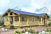 Проект дом-баня из бревна