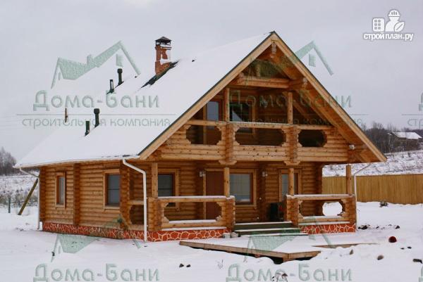 Фото: проект дом из бревна
