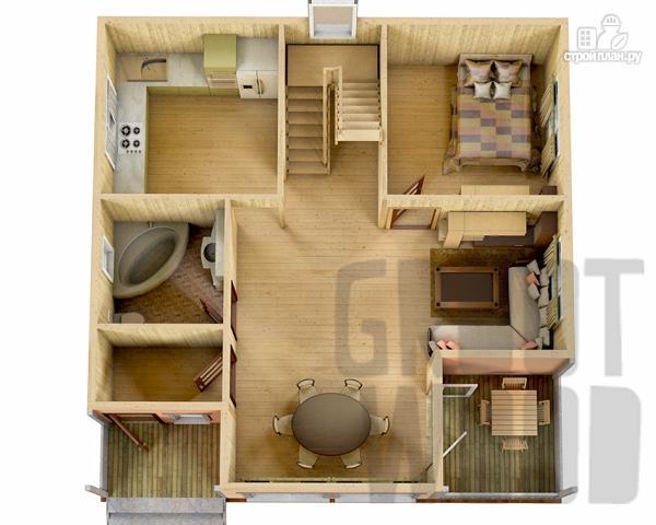 Фото 2: проект полутораэтажный дом 9 х 9 м