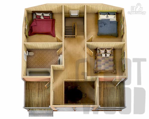 Фото 3: проект полутораэтажный дом 9 х 9 м