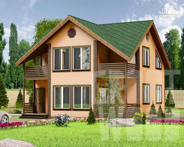 Фото: проект полутораэтажный дом 9 х 9 м