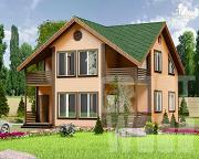 Проект полутораэтажный дом 9 х 9 м
