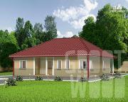 Проект одноэтажный дом 12 х 12 м