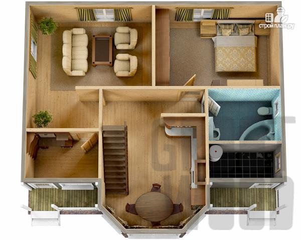 Фото 2: проект полутораэтажный дом 10 х 7 м