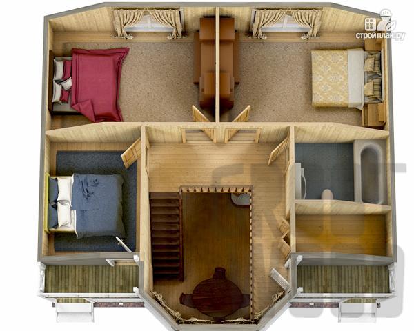 Фото 3: проект полутораэтажный дом 10 х 7 м