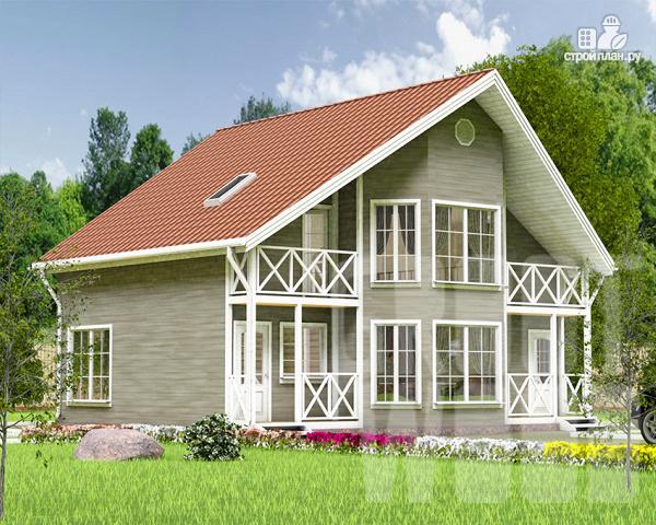 Фото: проект полутораэтажный дом 10 х 7 м