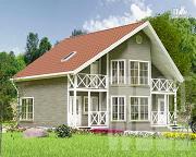 Проект полутораэтажный дом 10 х 7 м