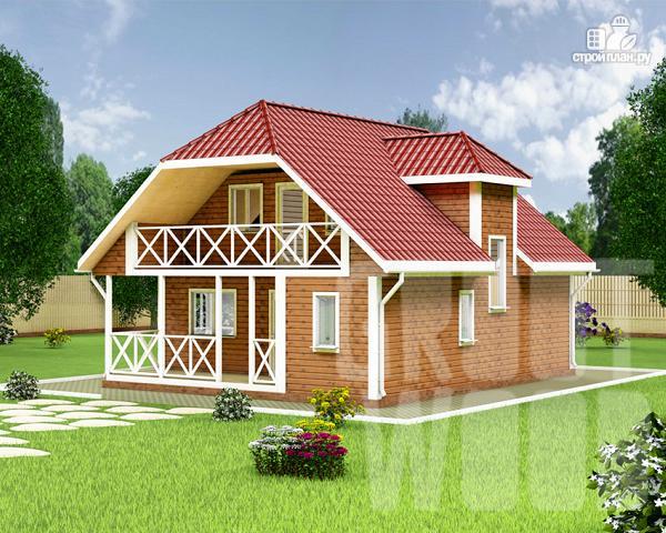 Фото: проект дом с мансардным этажом 10 х 8 м