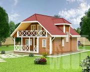 Фото: дом с мансардным этажом 10 х 8 м