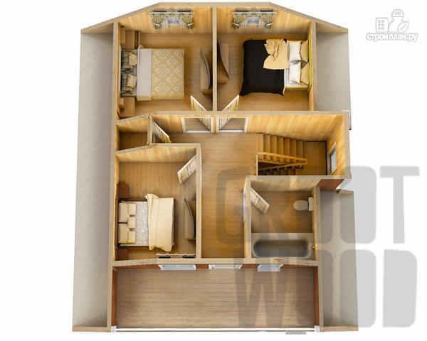 Фото 3: проект дом с мансардным этажом 10 х 8 м