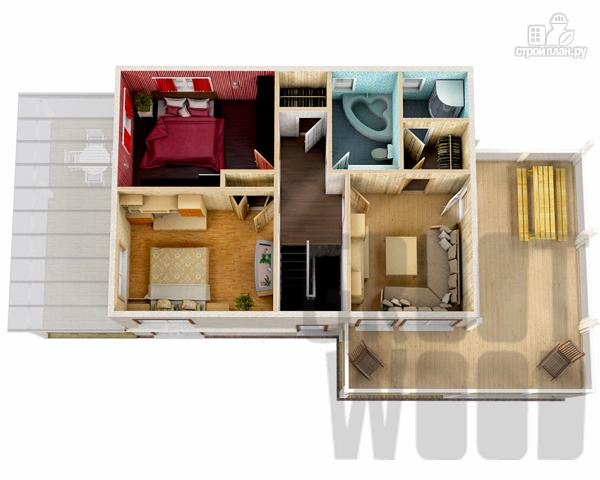 Фото 3: проект двухэтажный дом 10 х 7 м с гаражом