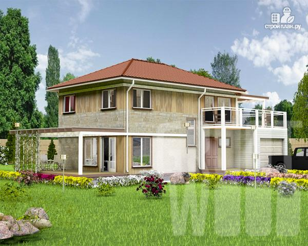 Фото: проект двухэтажный дом 10 х 7 м с гаражом