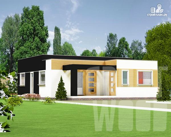 Фото: проект одноэтажный современный дом 11 х 9 м