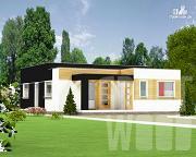 Проект одноэтажный современный дом 11 х 9 м