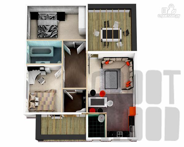 Фото 2: проект одноэтажный современный дом 11 х 9 м