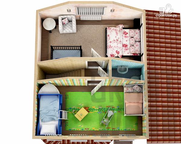 Фото 3: проект полутораэтажный дом 7 х 6 м