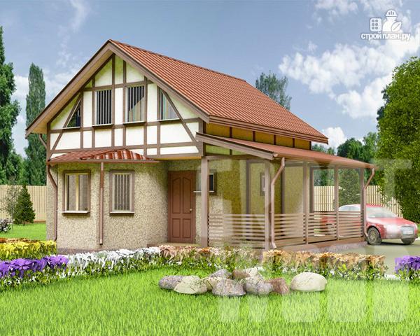 Фото: проект полутораэтажный дом 7 х 6 м