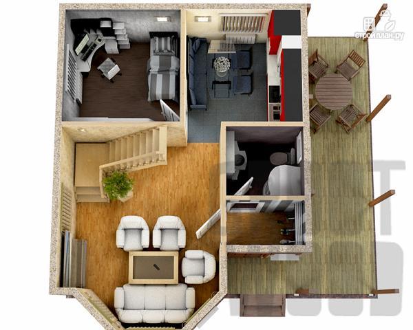 Фото 2: проект полутораэтажный дом 7 х 6 м