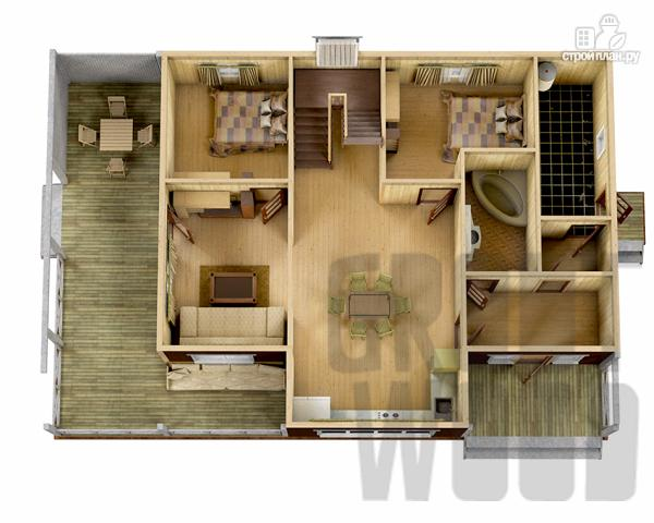 Фото 2: проект двухэтажный дом 15 х 10 м