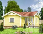 Проект одноэтажный дом 7,5 х 7 м