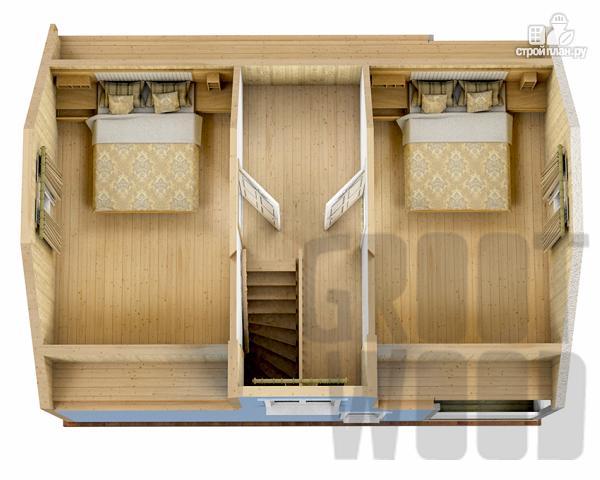 Фото 3: проект дом с мансардным этажом 8 х 6 м